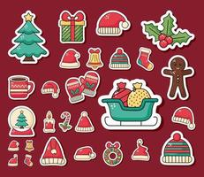 bundle of Christmas icons vector