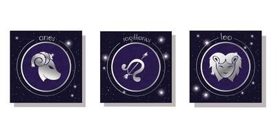 set of zodiac signs icon set vector