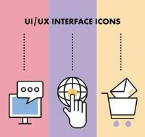 infographic with interface icons vector