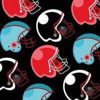 diseño de patrón de deporte de fútbol americano con cascos vector