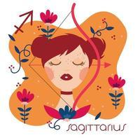 beautiful woman with sagittarius zodiac sign