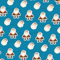 merry christmas card with santa claus pattern vector