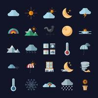 weather symbol bundle vector design