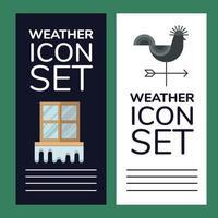 Weather banner set vector