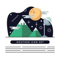 weather banner template vector