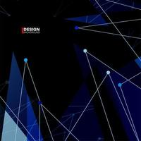 Abstract Polygonal Space Background with Connecting Dots and Lines vector