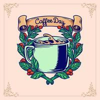 Coffee Day Plant Illustration
