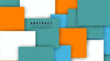 Abstract 3d shapes overlapping background vector