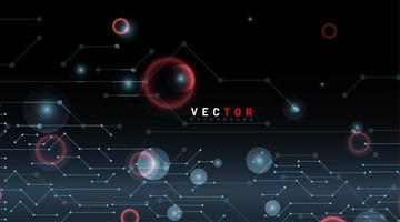 Abstract dot and line tech background vector