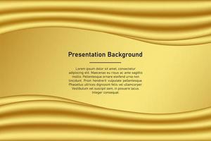 Gold wave presentation background vector