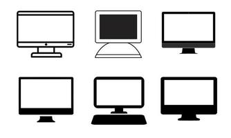 Set of computer screen icons vector