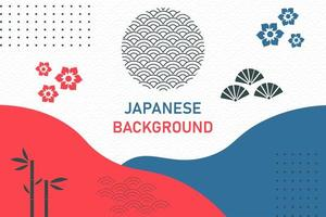 Abstract geometric background in Japanese style vector