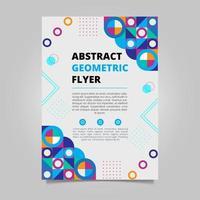 Modern geometric flyer design