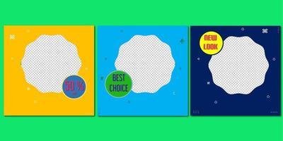 conjunto de banners de venta. rebajas y descuentos. ilustración vectorial vector
