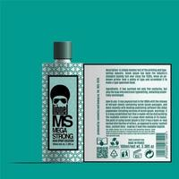 Cosmetics Packaging Design, Hair Spray Label Design , Package Template Design, Label Design, Beard Oil Mockup Design Label Template Prepared For Real Printing.eps vector