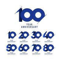 Ilustración de diseño de plantilla de vector de celebración de aniversario de 100 años
