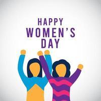 Ilustración de diseño de plantilla de vector de celebración de día de la mujer feliz