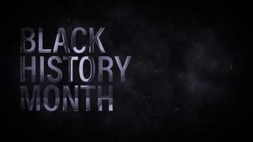 título cinematográfico de texto prateado 3d do mês da história negra video