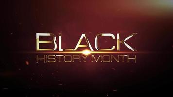 mois de l'histoire des noirs lumière cinématographique 3d explose intro video