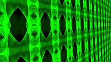 Green Chrome Futuristic Matrix 3D Wall Loop