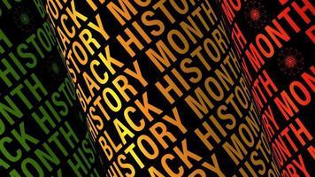 boucle de texte tube 3d mois de l'histoire des noirs tournant video