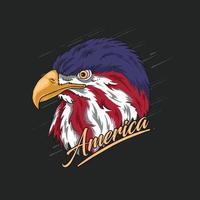 eagle head america illustration vector