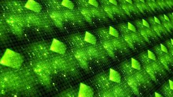 Padrão de matriz neon verde de contagem regressiva de 10 a 0