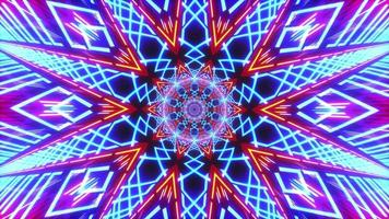 caleidoscopio giratorio de mandala de luz azul-roja
