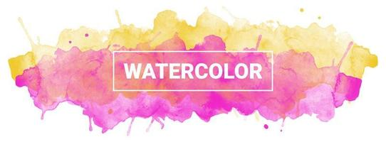 Watercolor ink vector graphics
