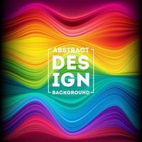 cartel de flujo colorido moderno