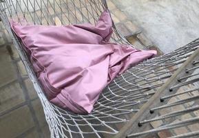 Pillow on hammock photo
