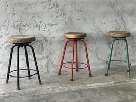 Three colorful stools