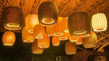 Beautiful lamps under the roof