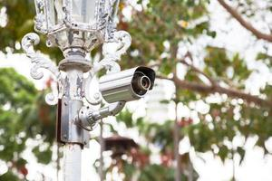 CCTV camera on a pole photo