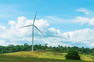 Wind turbine on the meadow