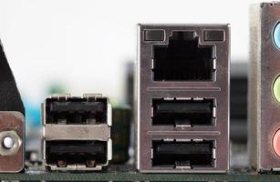 puerto de conexión de computadora
