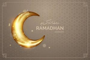 Realistic Ramadhan background with moon