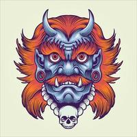 Giant Monster Mask Illustration vector