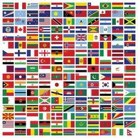 set of Rectangle flags of the world vector