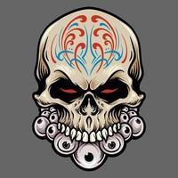 Mexican Sugar Skull Dia De Los Muertos Illustration vector