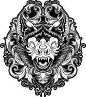 Ornate Bat Silhouette Design