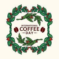 Vintage Coffee Plants Frame Illustration