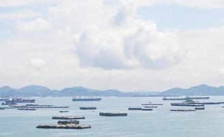 Cargo ships on the sea