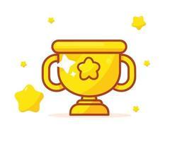 Golden trophy illustration vector