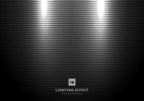 Abstract scene illuminated by spotlight on black background. vector