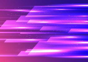 Abstract high speed internet movement design geometric overlapping with lighting effect on blue and pink background. vector