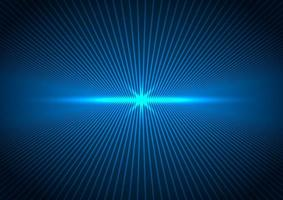 Abstract technology futuristic concept connection perspective lines with blue lightning vector