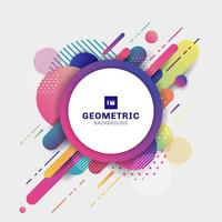 Abstract colorful geometric pattern composition rounded line shapes diagonal transition background vector