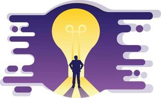 Vector illustration idea in business
