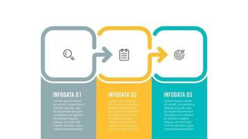 Business infographic template design with icons and 3 options or steps. Vector illustration.